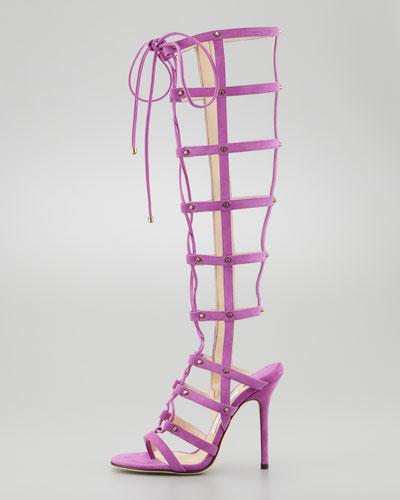 Jimmy Choo Mogul Tall Cage Gladiator Boot