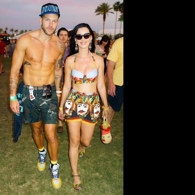 Johnny Wujek and Katy Perry, in Dolce & Gabbana.