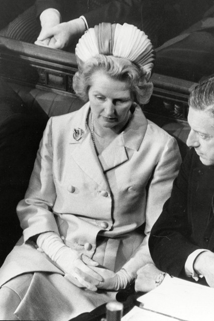July 1970  Sitting on the Conservative front bench during the state opening of Parliament in her role as Secretary Of State For Education.