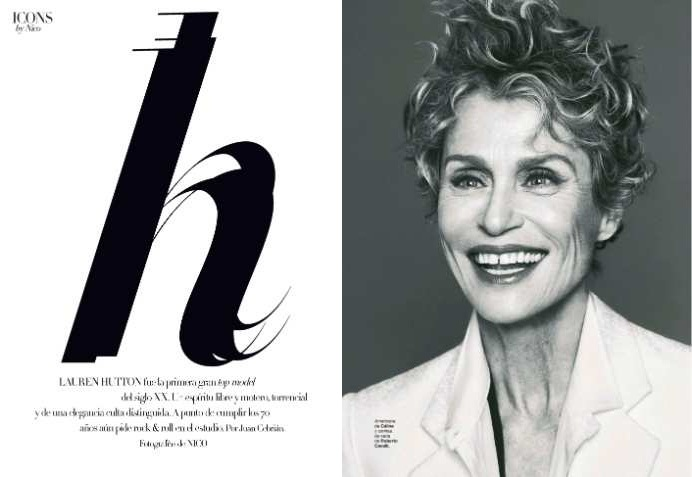 Lauren Hutton by Nico For Harper's Bazaar Spain May 2013