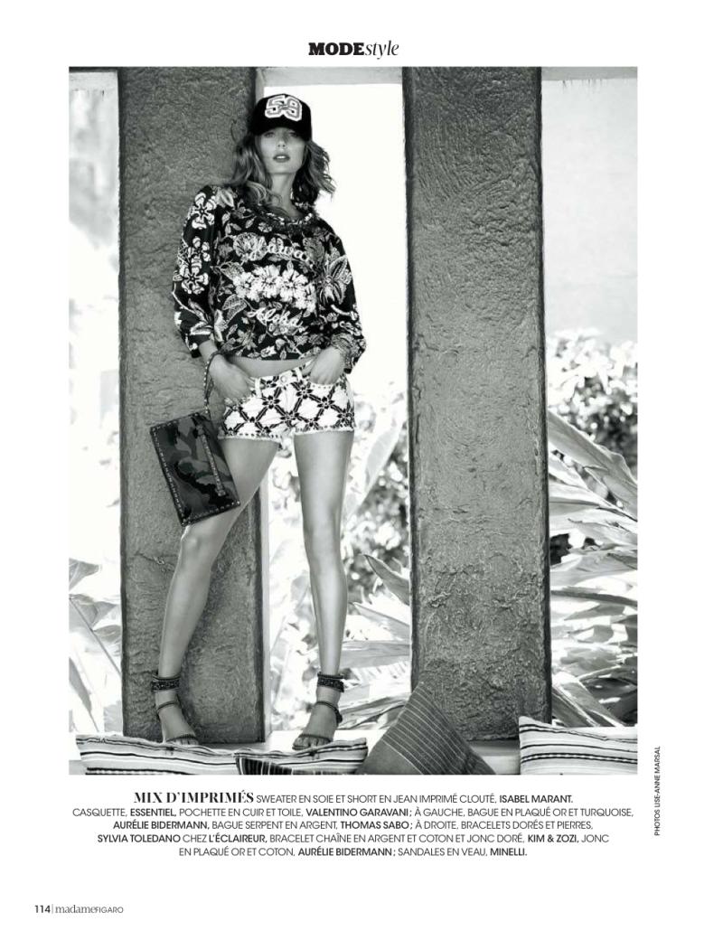 Marlijn Hoek By Lise-Anne Marsal For Madame Figaro 26Th April 2013