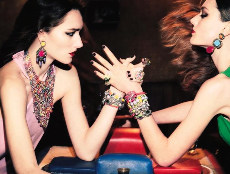 Lieve Dannau & Josephine Le Tutour by Christian MacDonald for Interview April 2013