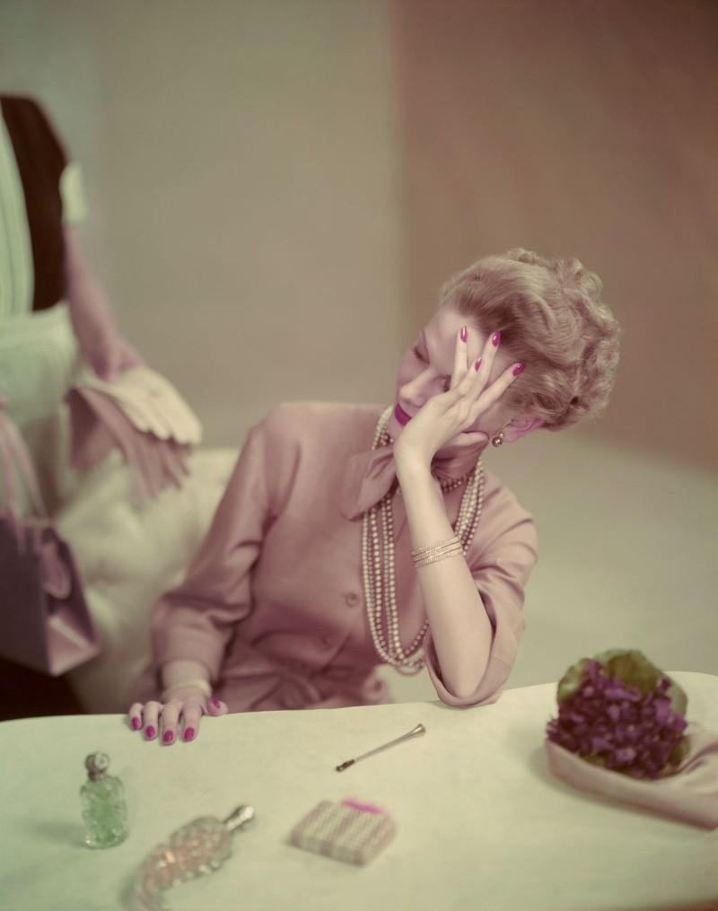 Life's tough. Vogue 1947.