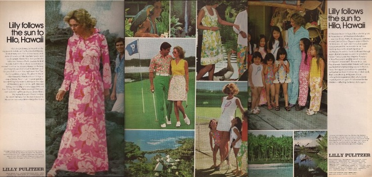 Lilly Follows The Sun ad campaign in 1975 - 1976