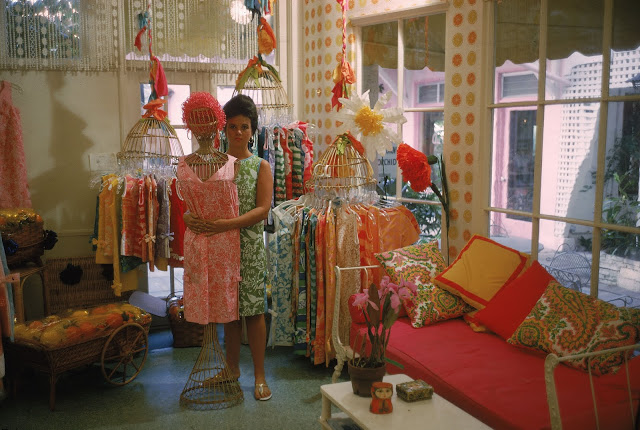Lilly Pulitzer  in her store