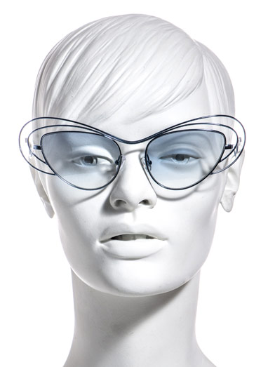 LINDA FARROW FOR ERDEM Spiral oval sunglasses