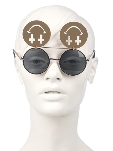 LINDA FARROW FOR JEREMY SCOTT Smiley Face sunglasses