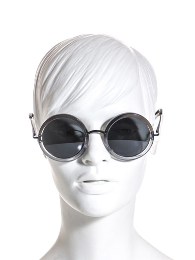 LINDA FARROW FOR THE ROW Round dual-tone sunglasses
