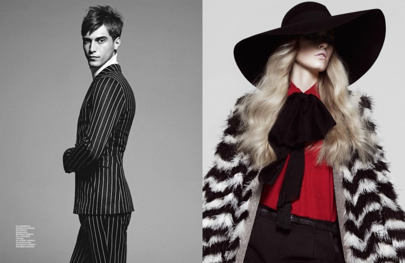 Louise Parker And Clement Chabernaud By Santiago & Mauricio For Interview Russia April 2013