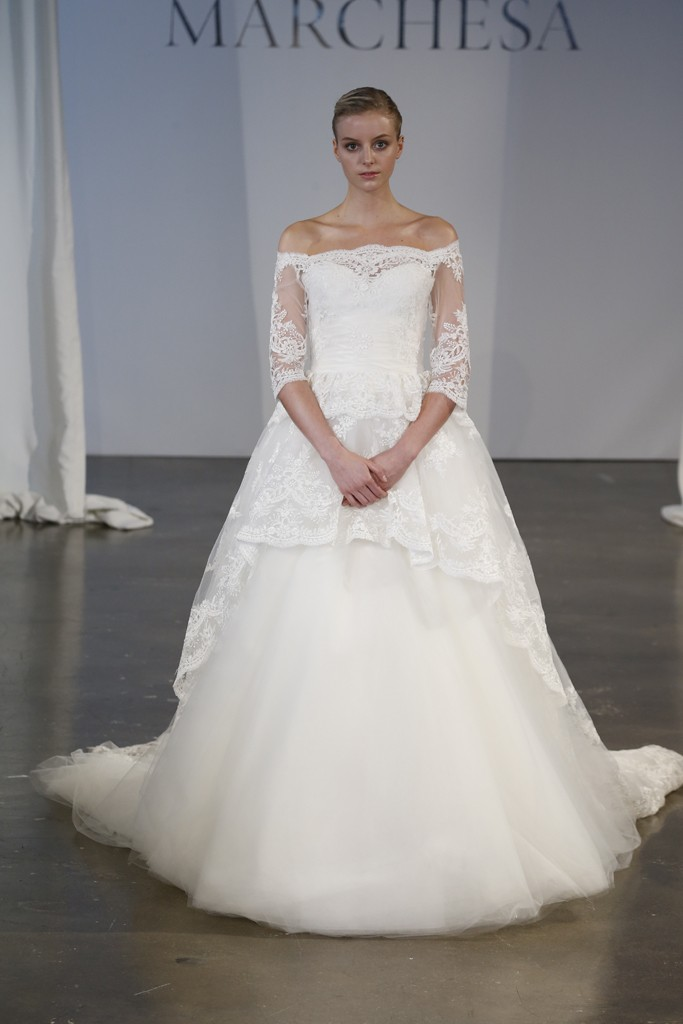 Marchesa Bridal Spring 2014 Photo by George Chinsee