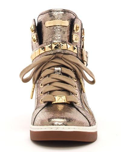 MICHAEL Michael Kors Metallic Glam Studded High-Top