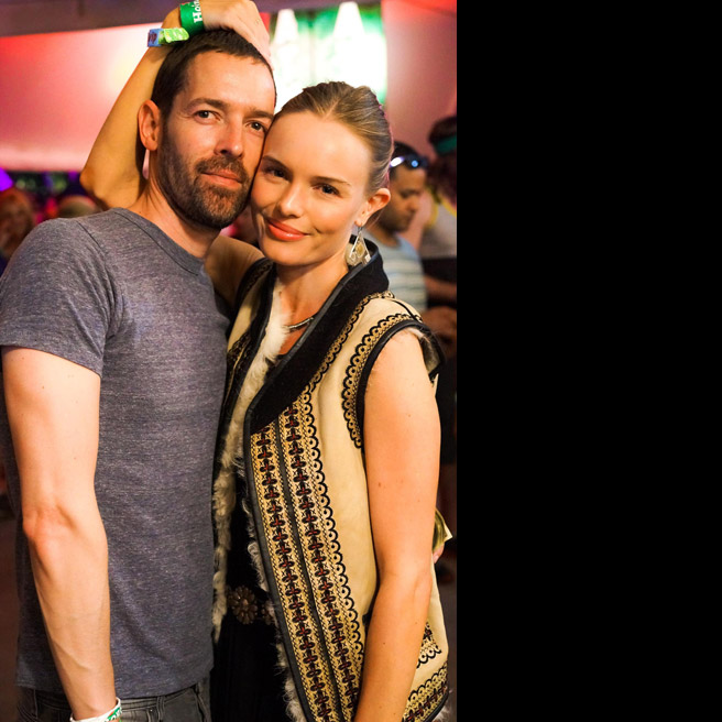 Michael Polish and Kate Bosworth, in Topshop.
