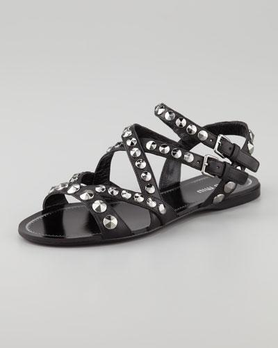 Miu Miu Studded Strappy Sandal
