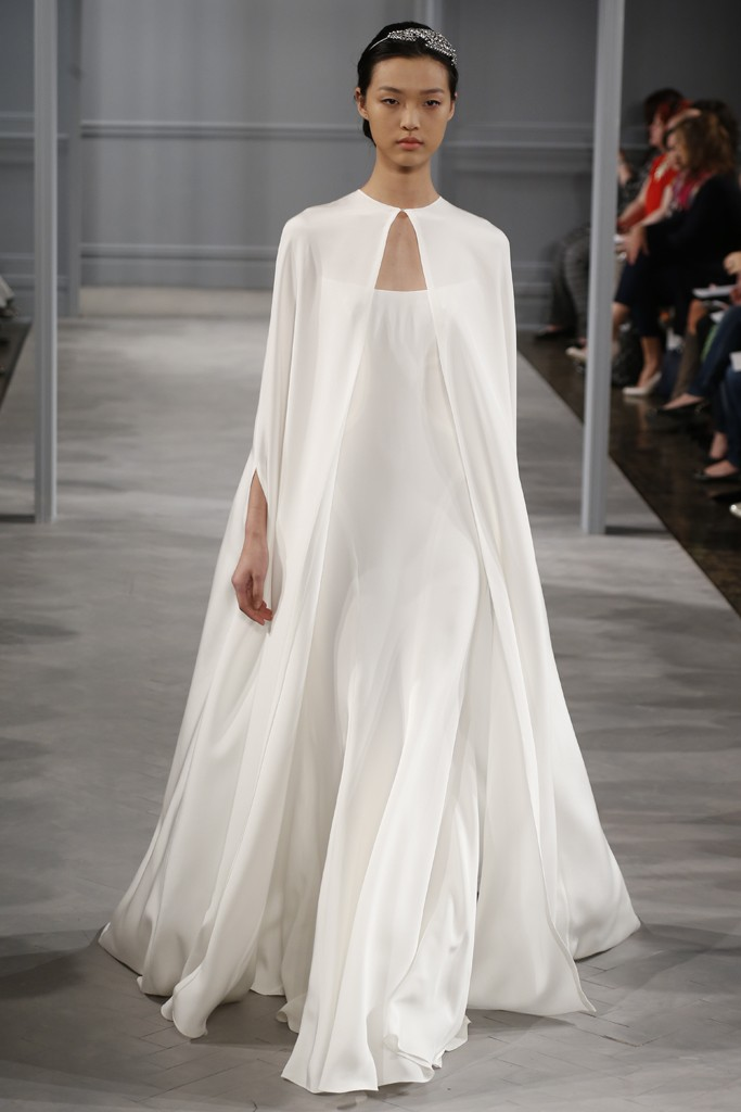 Monique Lhuillier Bridal Spring 2014 Photo by George Chinsee