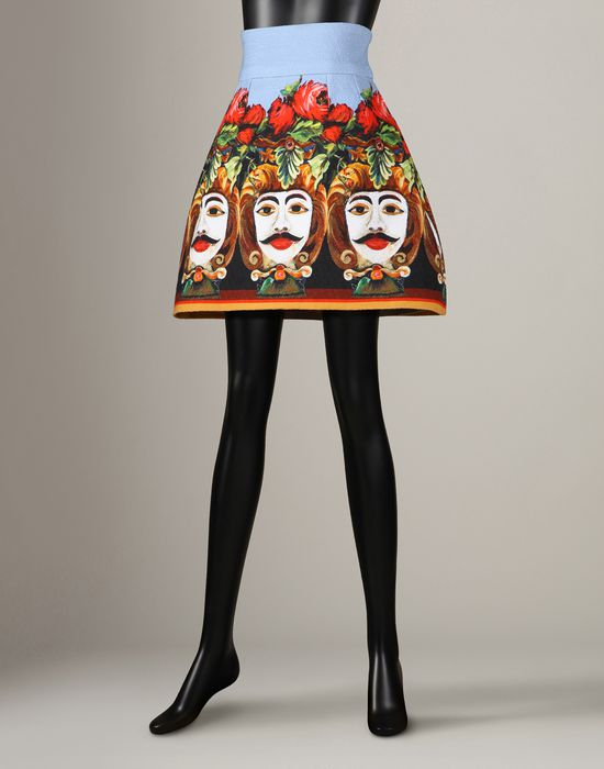 Moor Print Mini Skirt