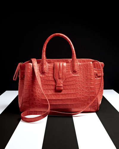 Nancy Gonzalez  Cristina Crocodile Shoulder Tote Bag