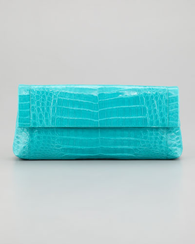Nancy Gonzalez  Flap-Front Crocodile Clutch Bag