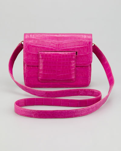 Nancy Gonzalez  Front-Flap Crocodile Crossbody Bag