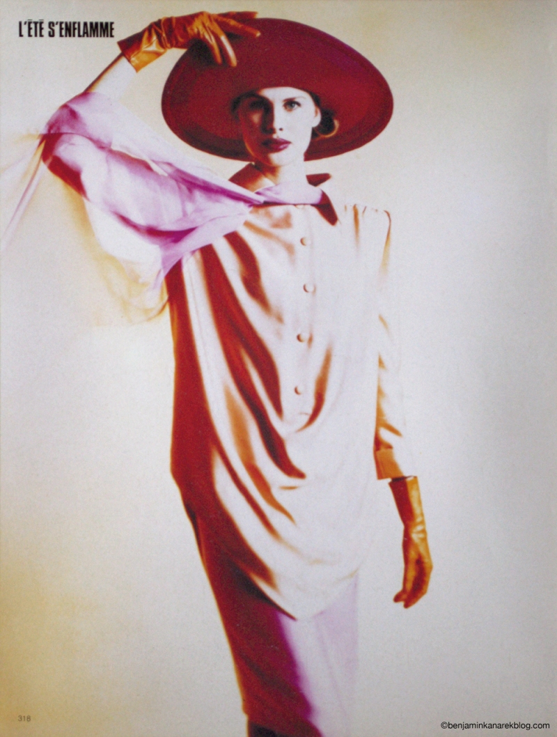 """Nina Hutulla in """"L'été s'enflamme"""" by Benjamin Kanarek For L'Officiel Paris 1989"""