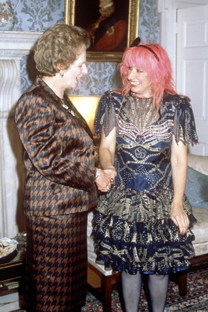 October 1988  Meeting designer Zandra Rhodes in London.