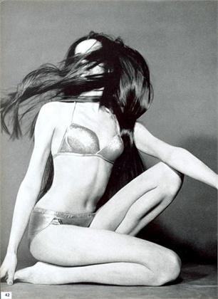 Photo by Franco Rubartelli 1966 Swimsuit Bernhard Altmann Vogue Italia, May 1966
