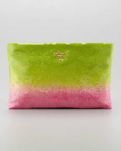Prada Degrade Sequin Pouch Clutch Bag,