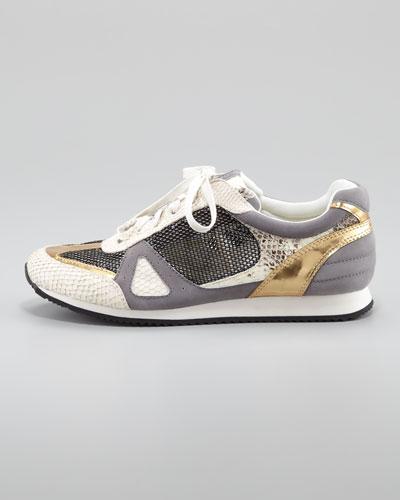 Rachel Zoe Jeni Mixed Material Sneaker