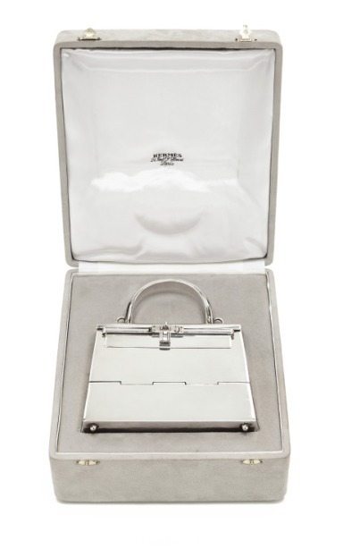 Rare Hermes Silver Mini Kelly