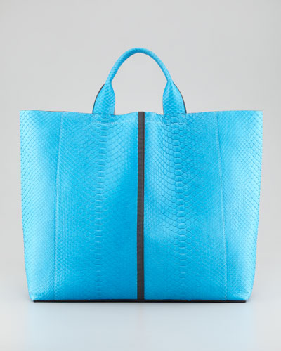 Reed Krakoff  Exotic Python Track Tote Bag