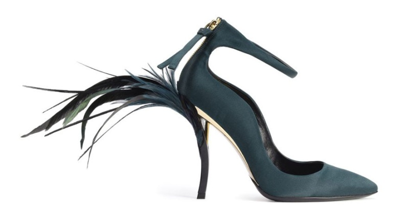 Roger Vivier (Bruno Frisoni)  Eyelash Heel pumps, Fall:Winter 2012-2013  Rendez-Vous (Limited Edition Collection)  Photograph courtesy Roger Vivier:Photo by Stephane Garrigues