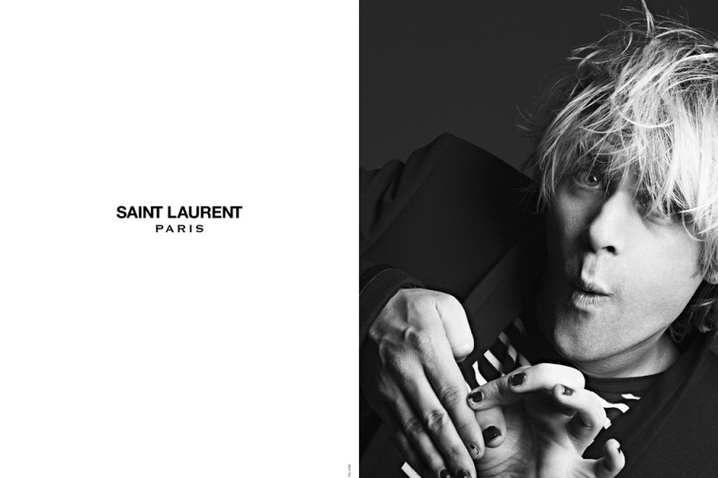 Ariel Pink in the Saint Laurent campaign.Photo by Hedi Slimane