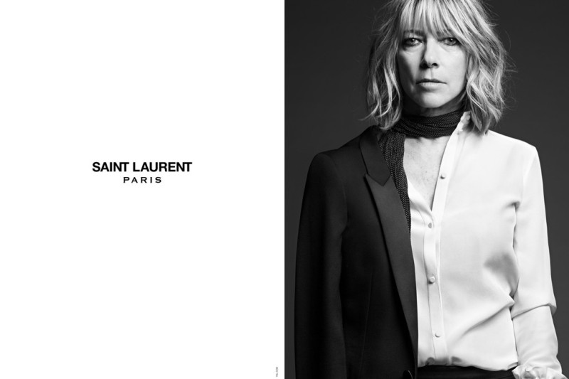 Kim Gordon in the Saint Laurent campaign.Photo by Hedi Slimane