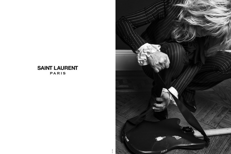 Courtney Love in the Saint Laurent campaign.Photo by Hedi Slimane
