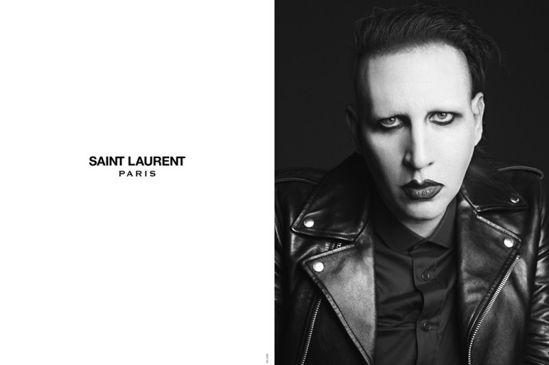 Marilyn Manson in the Saint Laurent campaign.Photo by Hedi Slimane