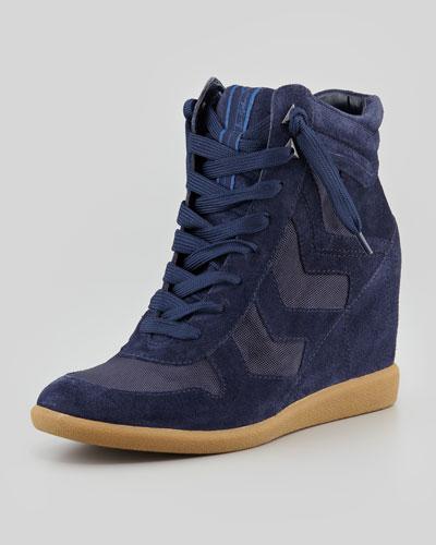 Sam Edelman Bennett Velour Hidden Wedge Sneaker