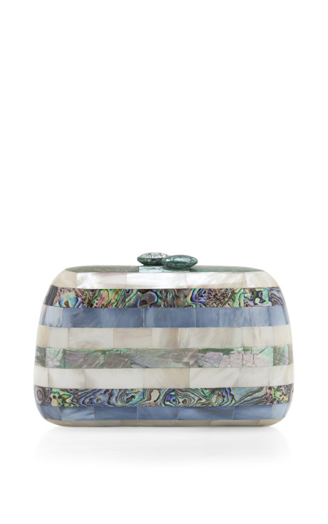 Serpui Marie Fam Mother Of Pearl Clutch