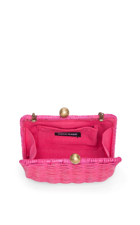 Serpui Marie Tutti Fruit Pic Nic Wicker Clutch