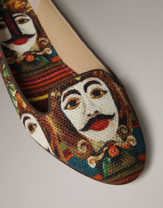Sicilian print slippers