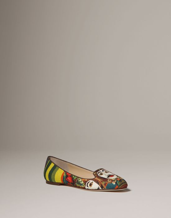 Sicilian print slippers