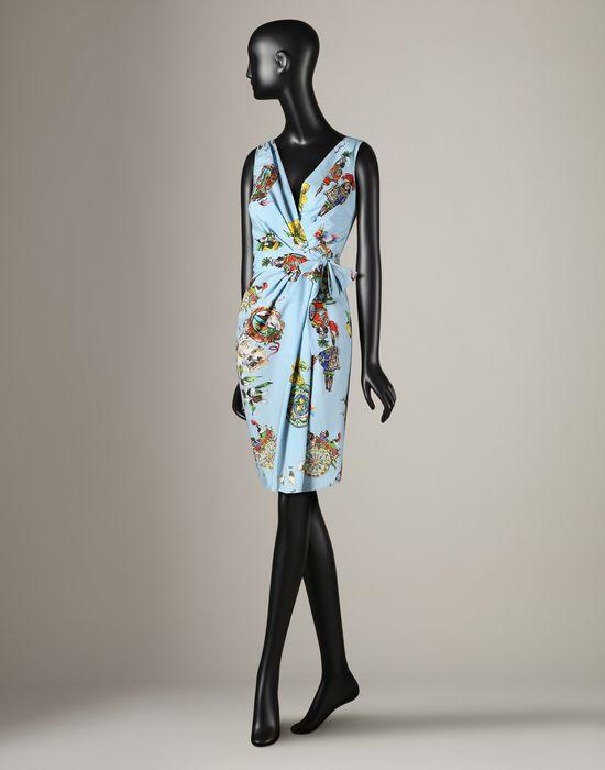 Sicily Print Wrap Dress