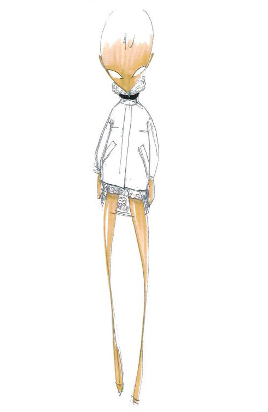 Sketch by Giambattista Valli for Fall/Winter 2013-2014