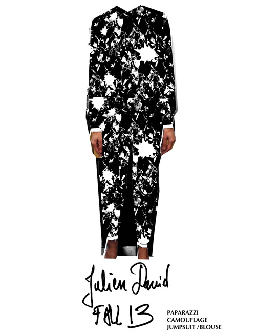 Sketch by Julien David for Fall/Winter 2013-2014