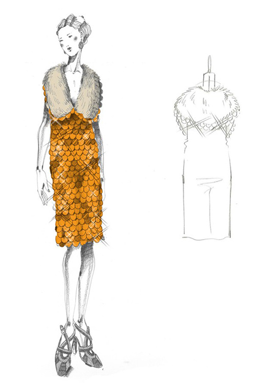 Sketch by Miuccia Prada for The Great Gatsby film costumes