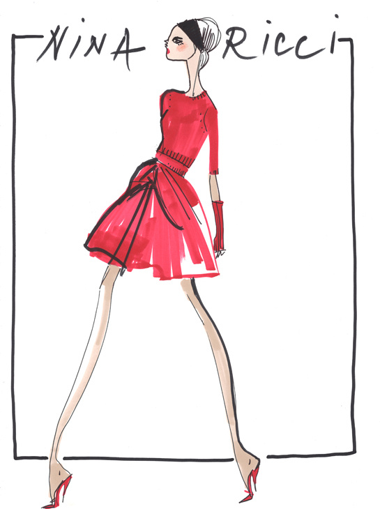 Sketch by Peter Copping for Nina Ricci Fall/Winter 2013-2014
