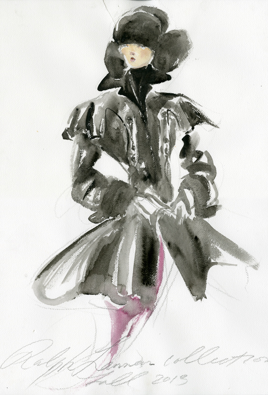 Sketch by Ralph Lauren for Fall/Winter 2013-2014
