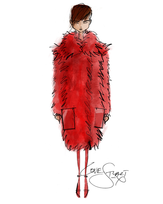 Sketch by Stuart Vevers for Loewe Fall/Winter 2013-2014