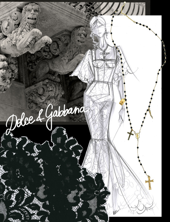 Sketches by Domenico Dolce and Stefano Gabbana