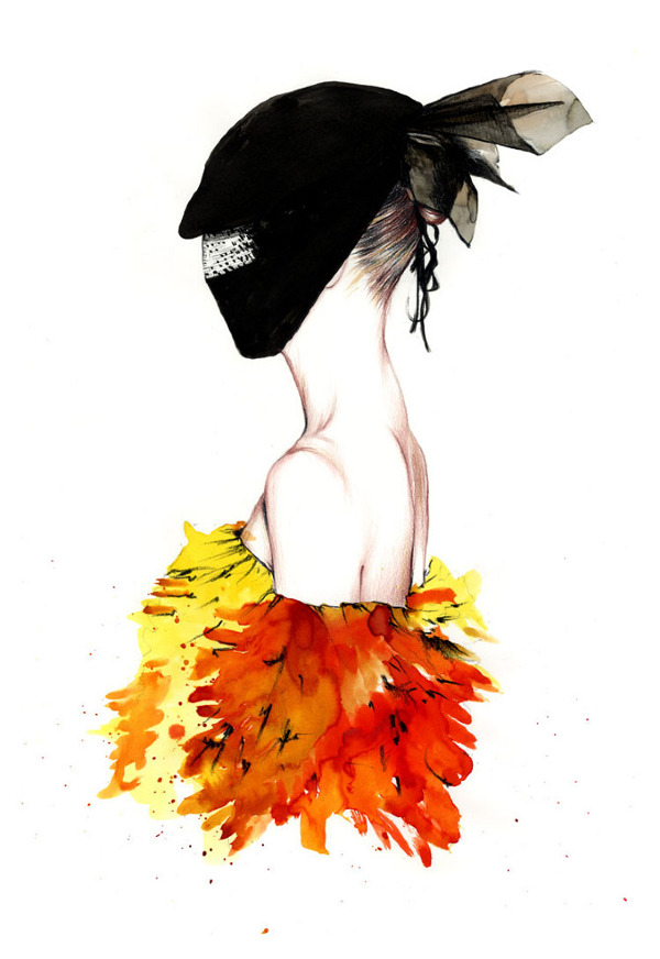 Spring 2013 Couture Shows Illustrations By Caroline Andrieu Maison Martin Margiela Artisanal