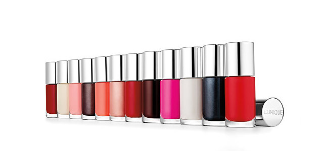 The new line of nail polishes Clinique