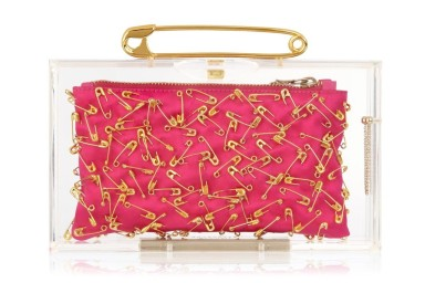 The Punk Pandora satin clutch.